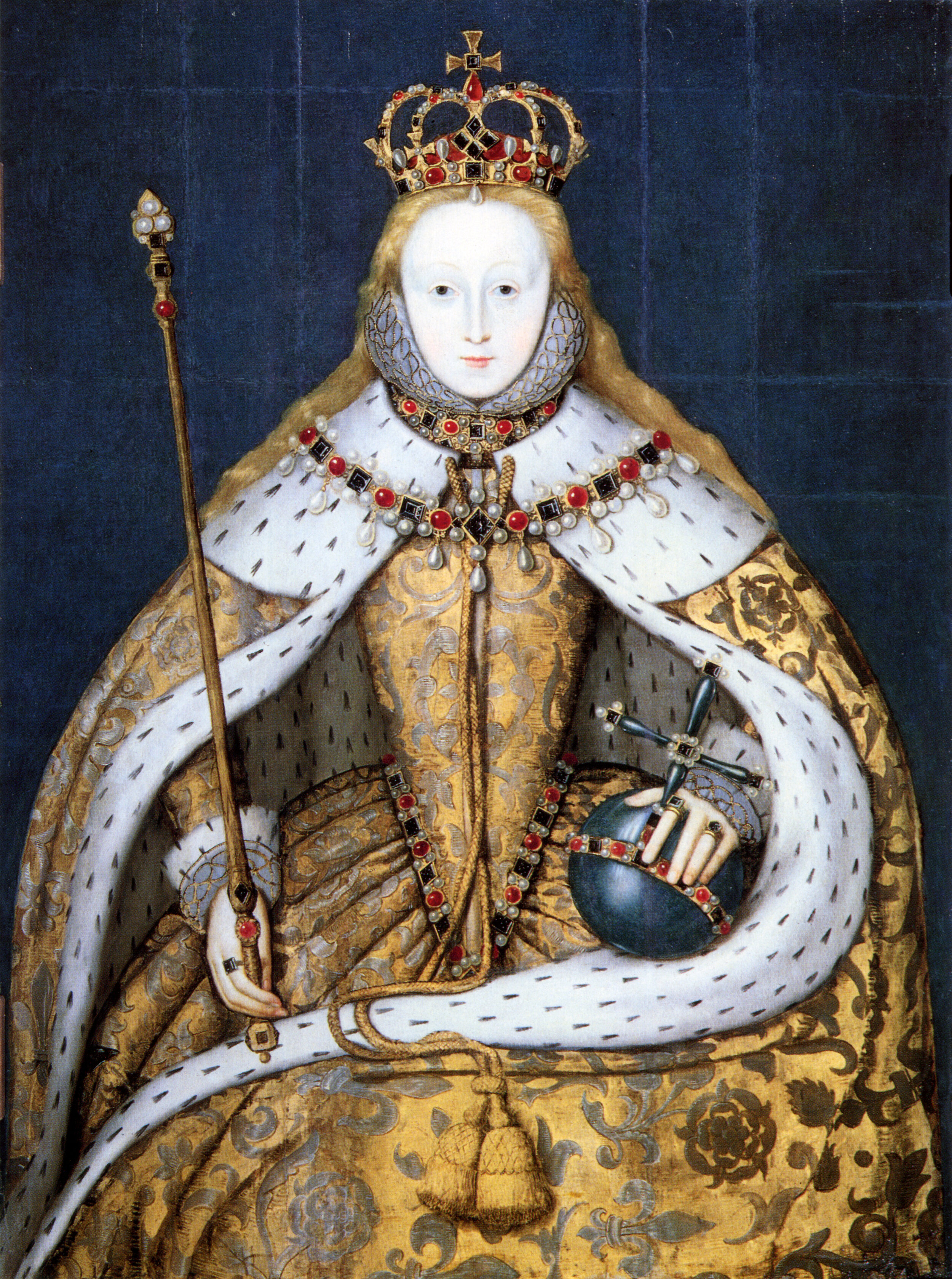 big forehead, lead face paint, scanty eyebrows… I'm into it. - A young Elizabeth I portrait, Wikicommons