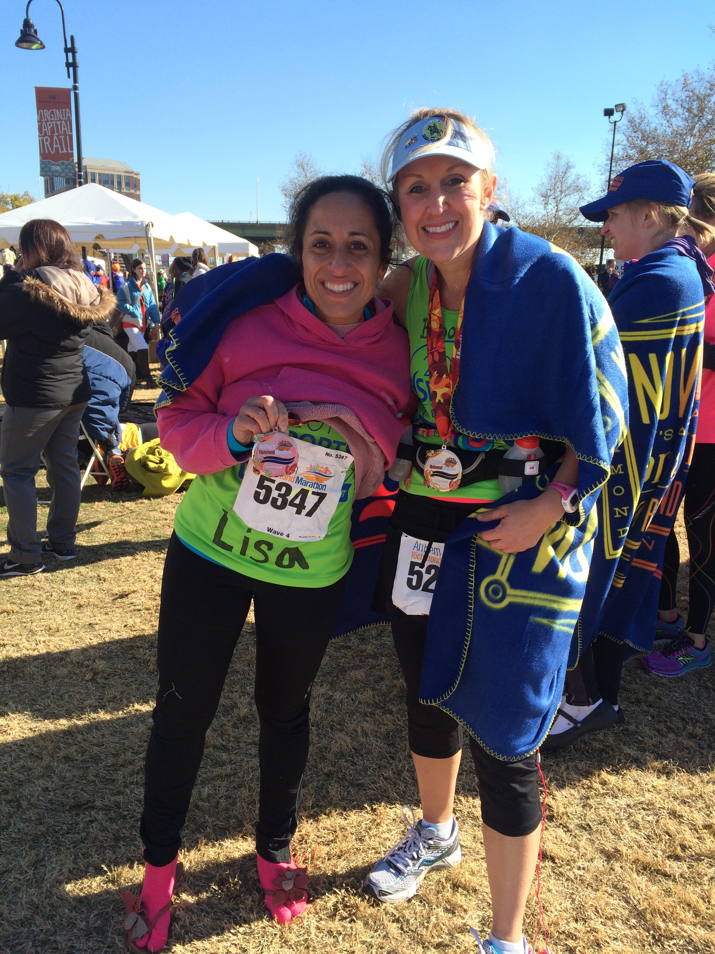 On November 15, 2014, I ran my first marathon with my dear friend Brooke. I completed the 26.2 miles in 3:56:55.