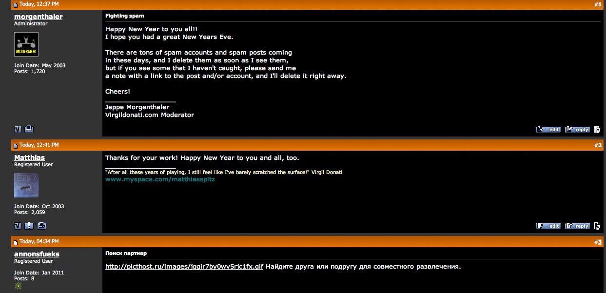 ka' godt selv se ironien  Mit indlæg om spam bliver besvaret med… spam (klik for større billede)