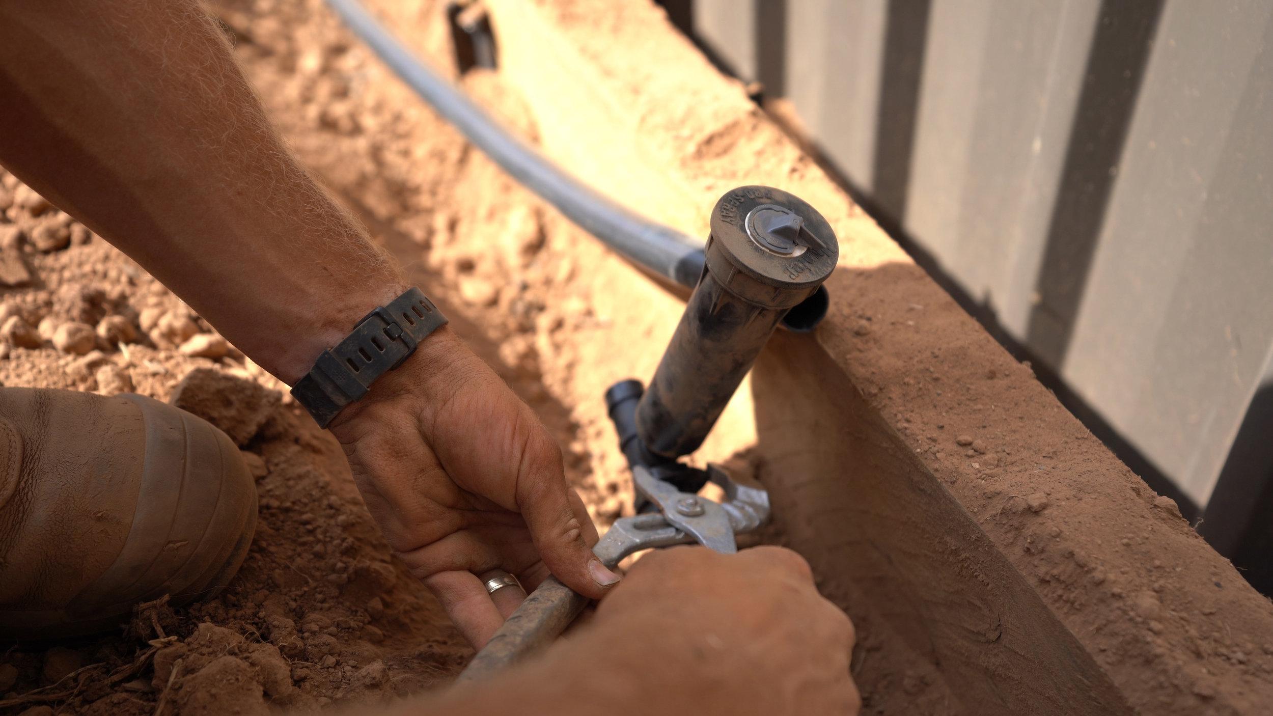 - Irrigation