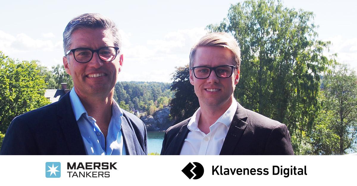 Peter Schroder, Chief Digital Officer in Maersk Tankers and Aleksander Stensby, Managing Director of Klaveness Digital
