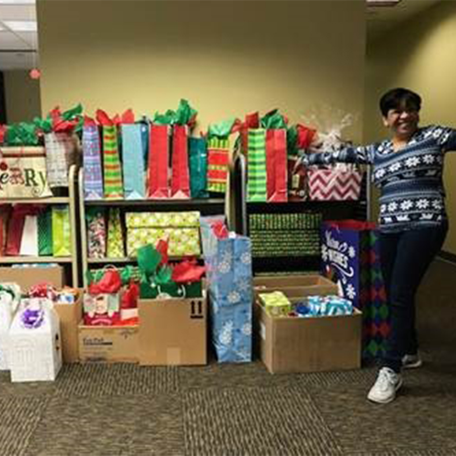 The staff really brightened a family's holidays with their generosity.
