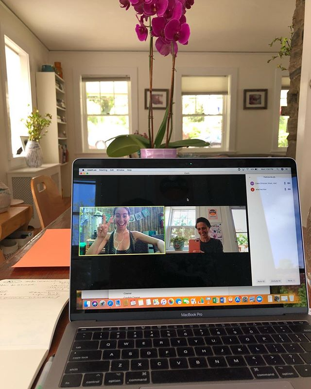 Meeting of the minds by way of NY and Costa Rica. Sharing, connecting, dreaming and building. Love you @alischechter ONWARD! 🌸