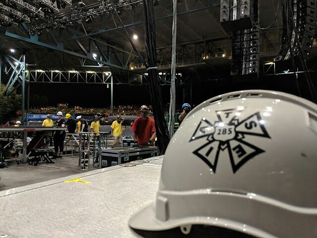 A picture taken by one of our newest members! #iatse #iatse285 #unionbuilt #unionmade #unionproud
