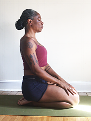 recover in vadrasana & lengthen low back.