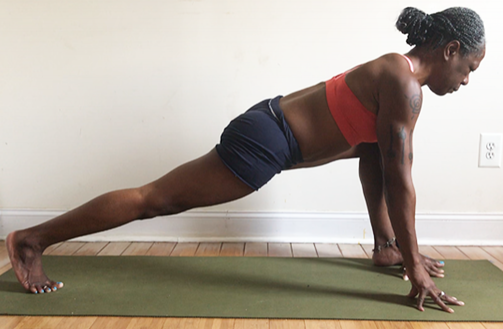 ashwa sanchalanasana (wide) with hands inside the front foot.
