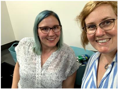 Christina Daniels (left) and Shana Maker (right) Symposium Administrative staff
