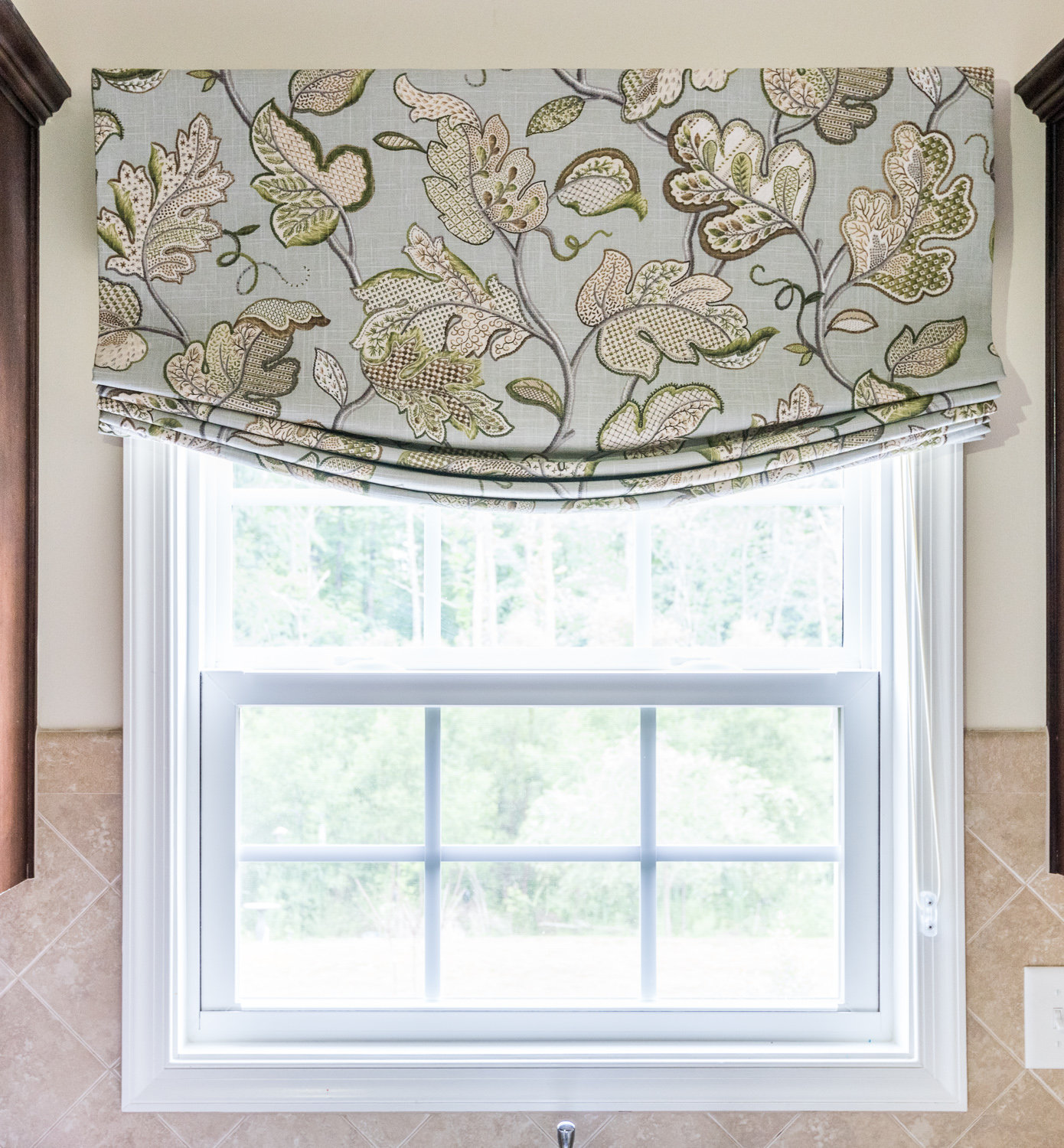 Relaxed Roman Shade for Leah Walder Interiors
