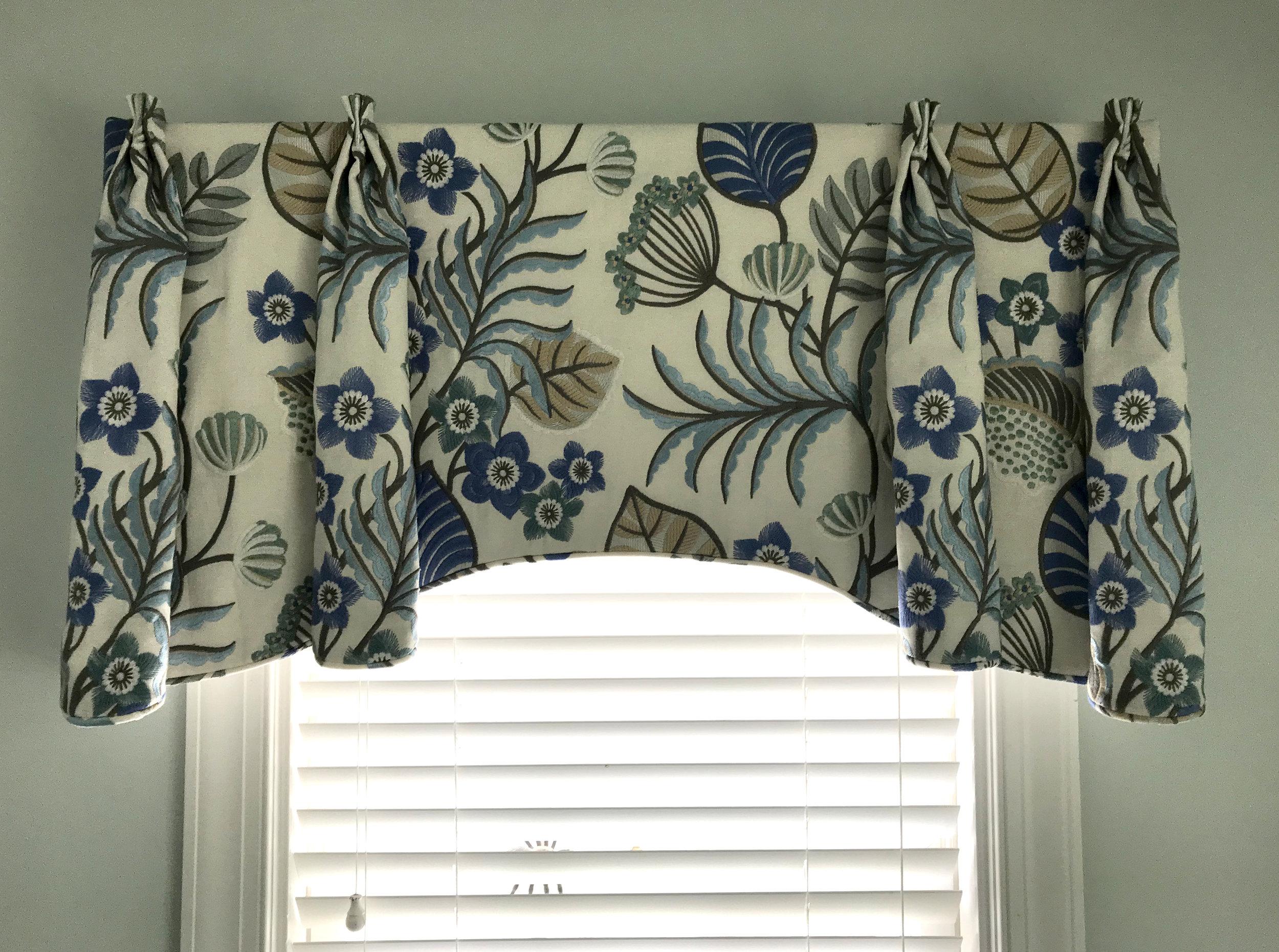 Custom Valance for Kathy Corbet Interiors