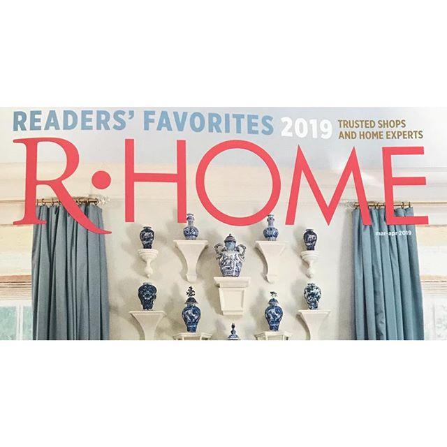 Many Thanks to the readers of R.HOME magazine for voting for LHS DESIGNS as one of the favorite Window Treatment Fabricators for 2019! #lhs_designs #rvawindowtreatments