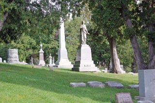 Churchyard & graveyard -