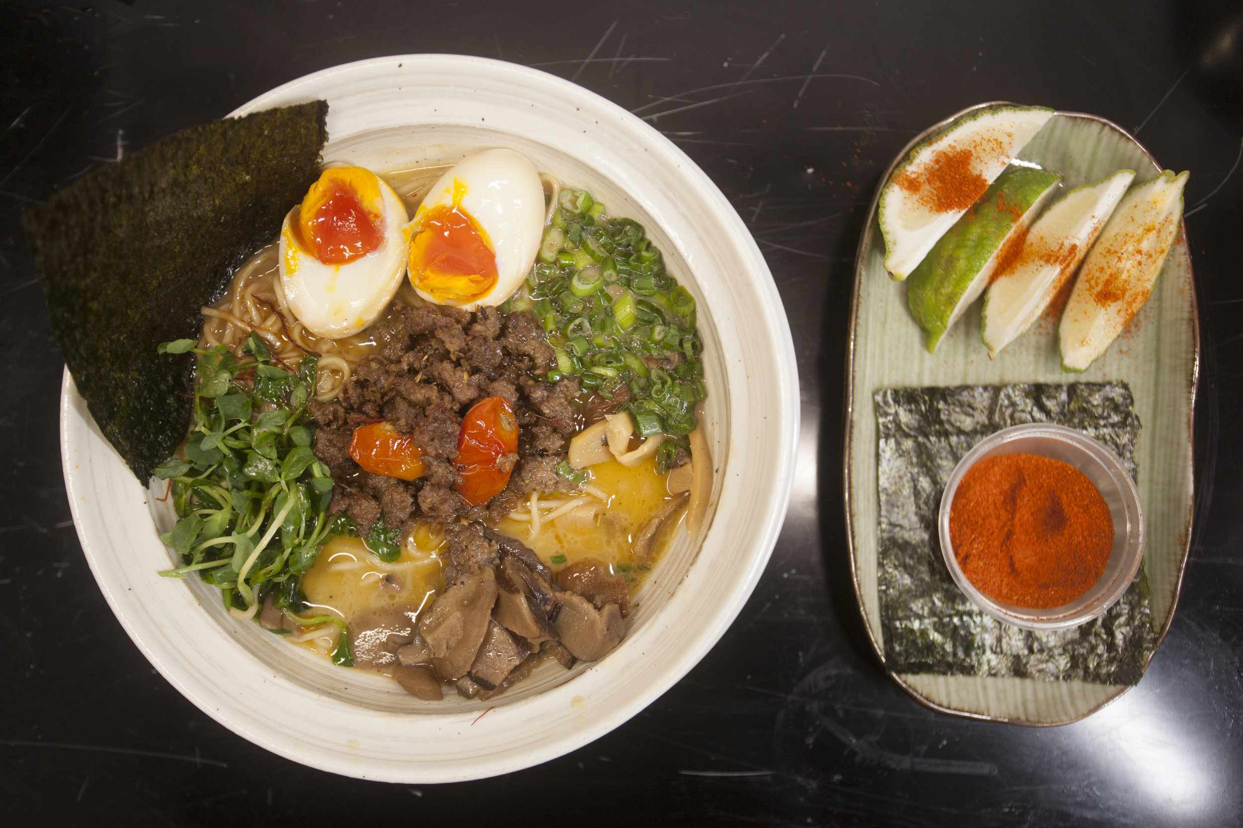 The lamb tantanmen ramen, inspired by our founder's Bangladeshi heritage, is the most recent addition to our menu this holiday season!