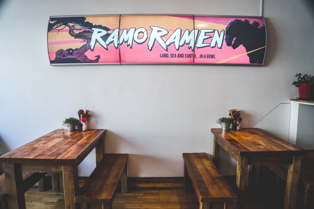 Ramo Ramen, located along Kentish Town Road, serves an entirely halal-friendly menu of traditional ramen with a Filipino spin.