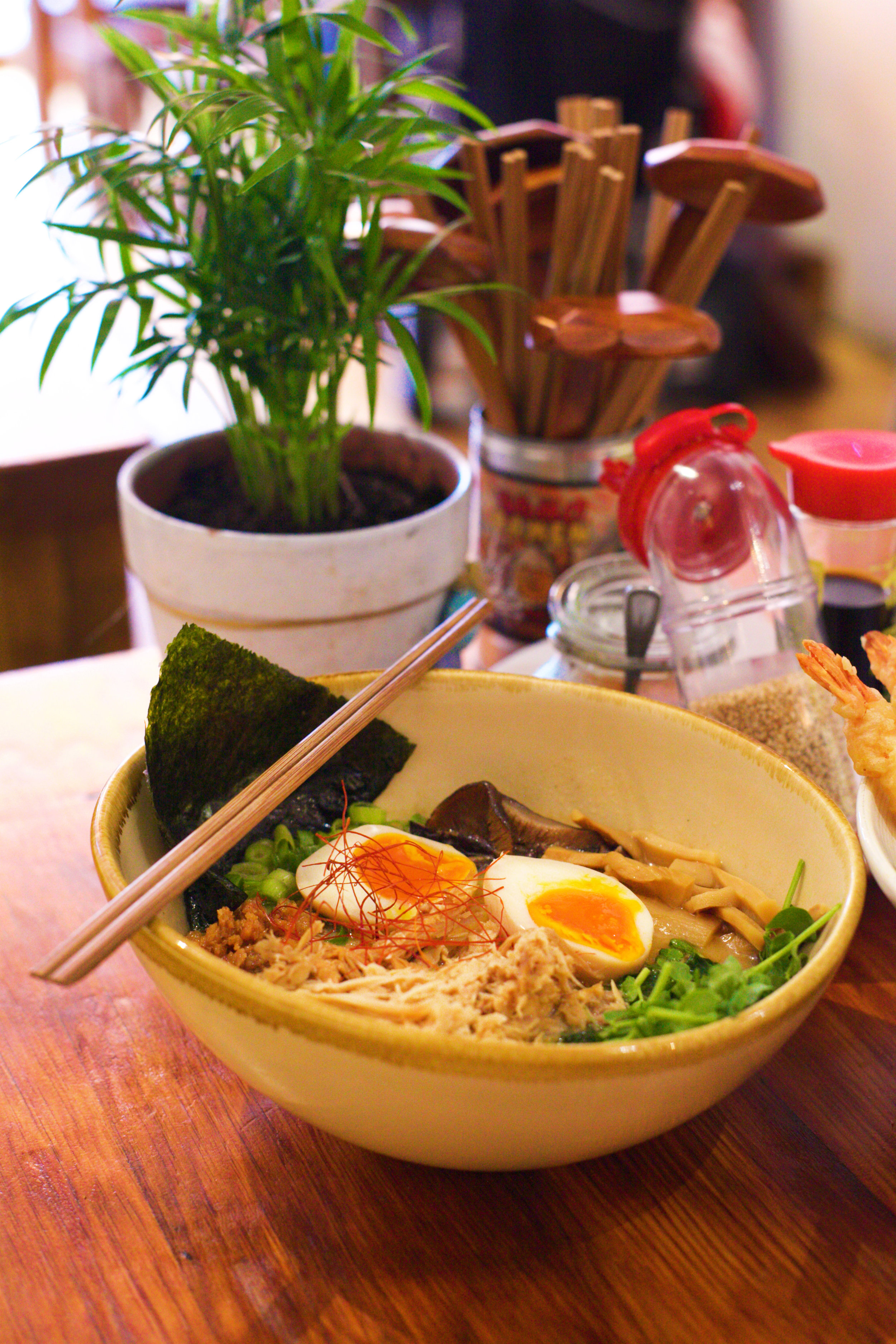Our amazing chicken sopas ramen is based on a Filipino comfort food classic, often associated with warm memories of family and home-cooked meals.