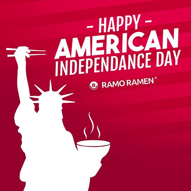 From everyone of us here at Ramo Ramen we wish everyone and all our American friends a Happy Independence Day 🇺🇸 🍜😋 . #happyindependenceday #america #ramen #ramenlover #halalfood #halalrestaurant #londonfood #filipinofood #japanesecuisine #japan #philippines #broth #celebration