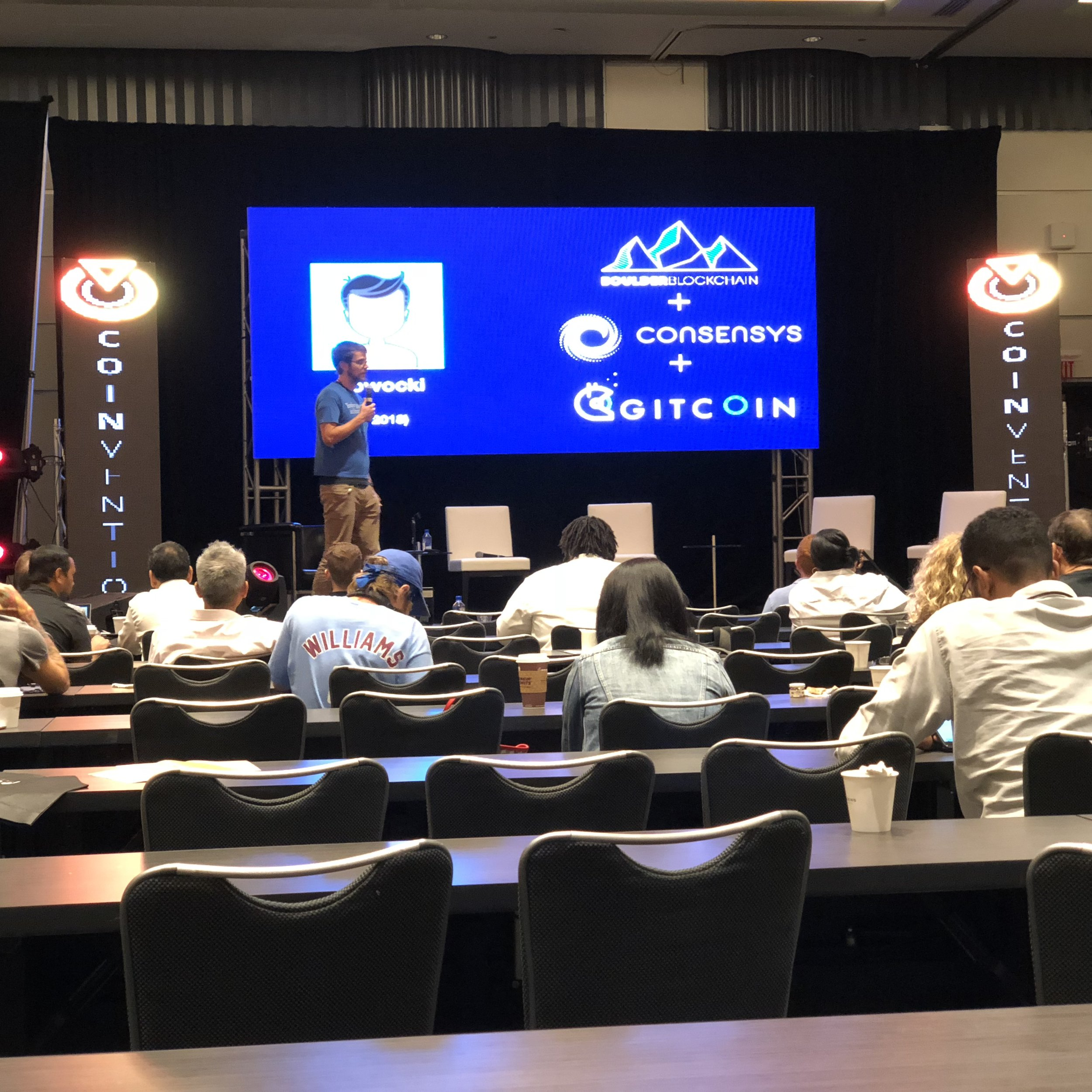 Kevin Owocki, founder of  Gitcoin , gave my favorite talk of the day