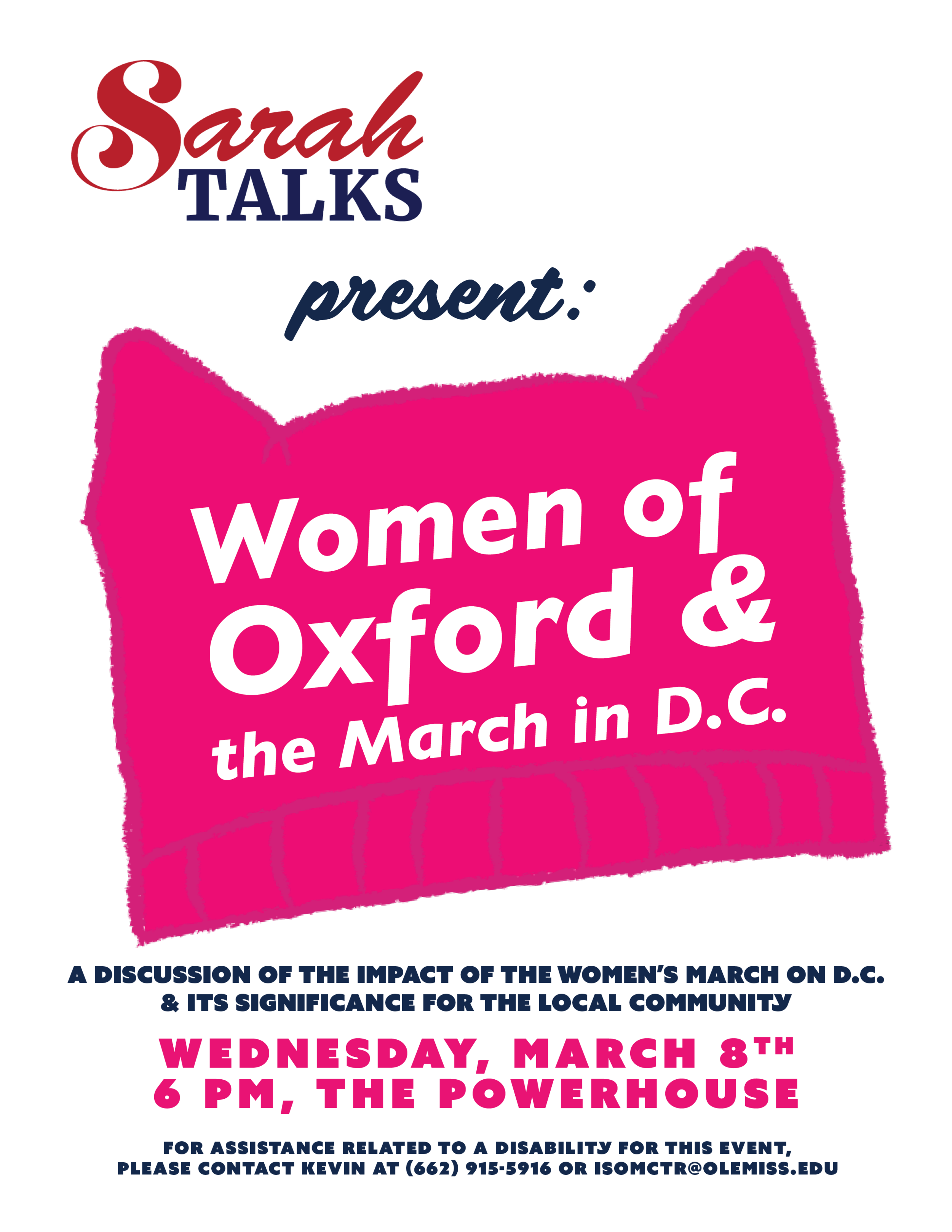 Sarah Talks Women's March Flyer.png