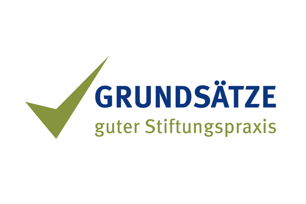 Logo der Grundsätze guter Stiftungspraxis. Children for a better World hat sich diesen Grundsätzen verpflichtet.