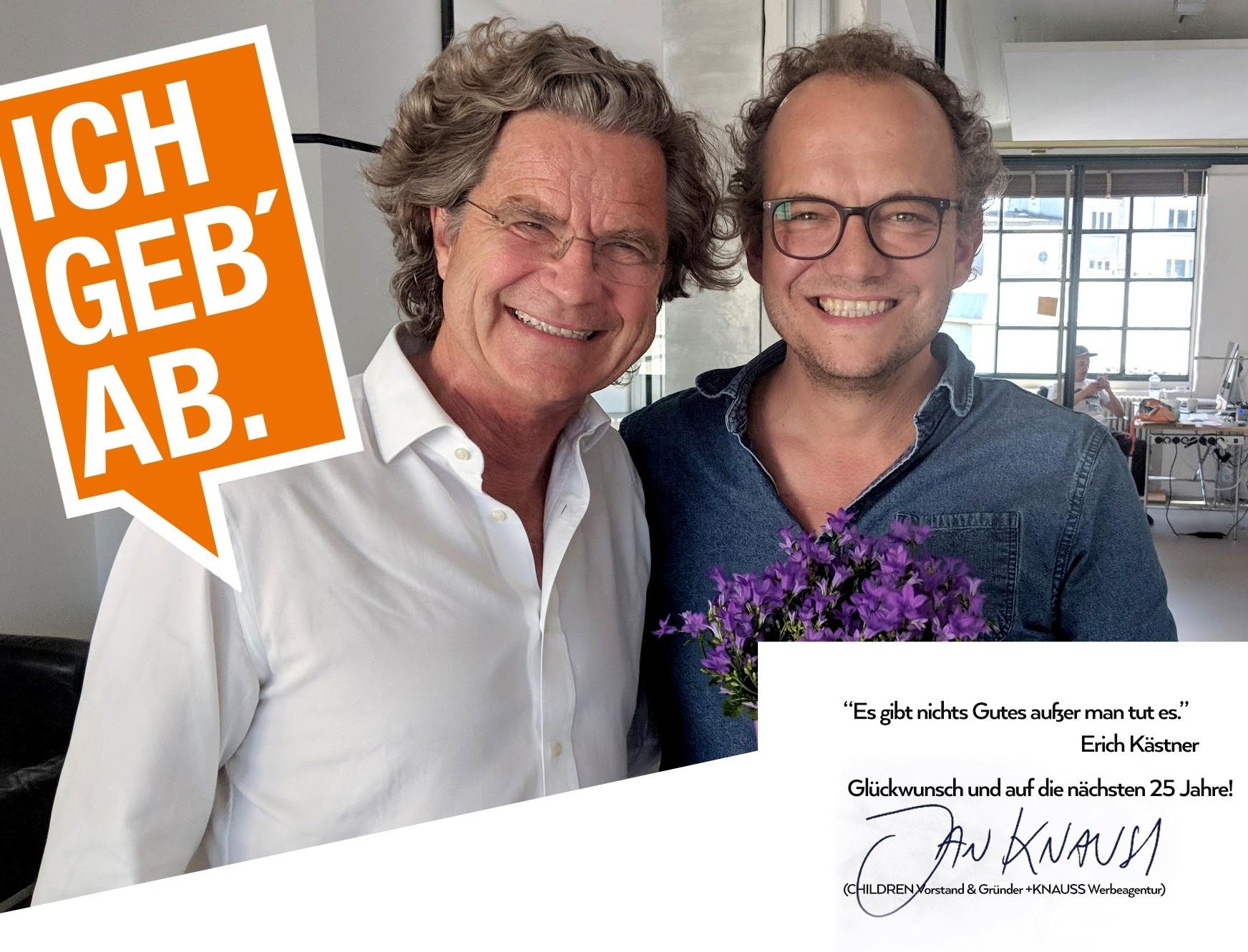 Glückwünsche von Jan Knauss, CHILDREN Vorstand und Gründer +KNAUSS Werbeagentur