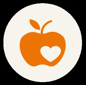 Icon Apfel mit Herz Kinderarmut