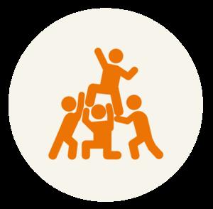 Icon Menschen junges Engagement