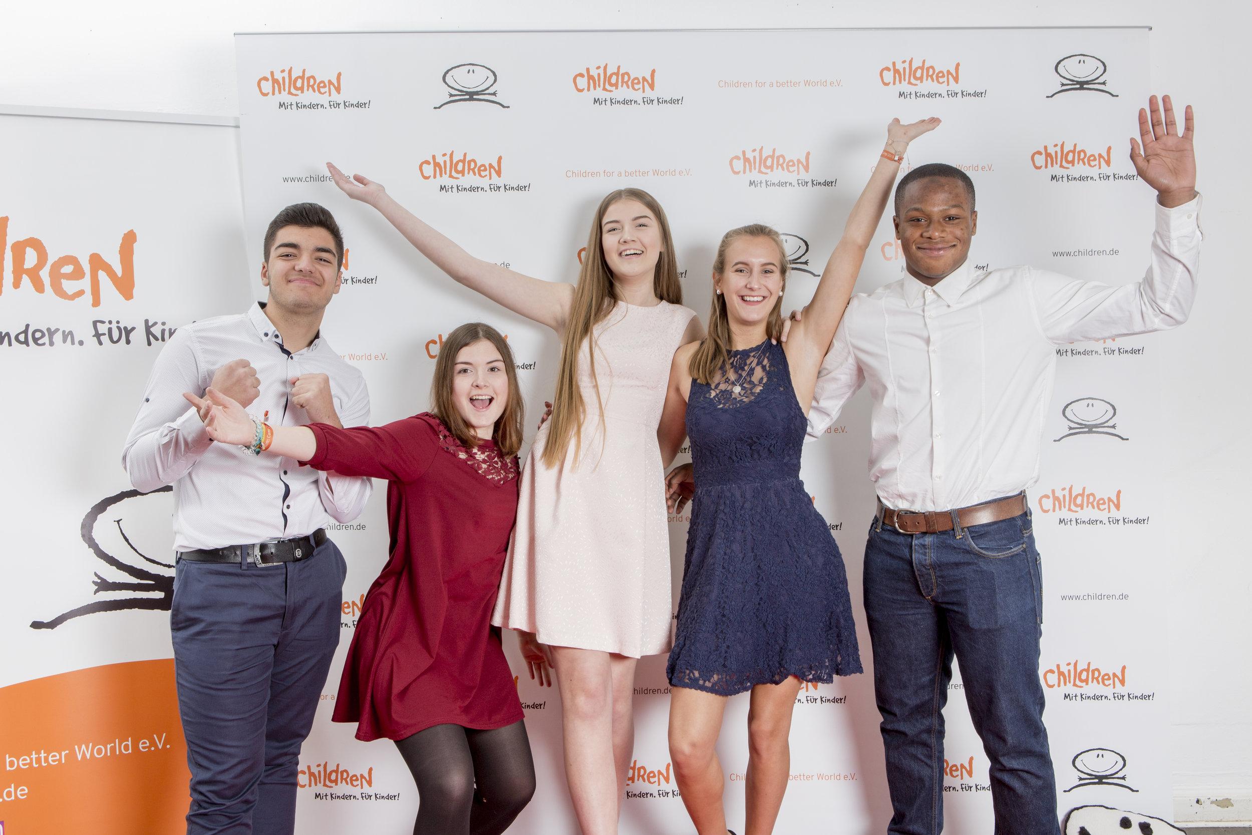 Ein CHILDREN Jugend hilft! Siegerprojekt 2018 nach der Preisverleihung