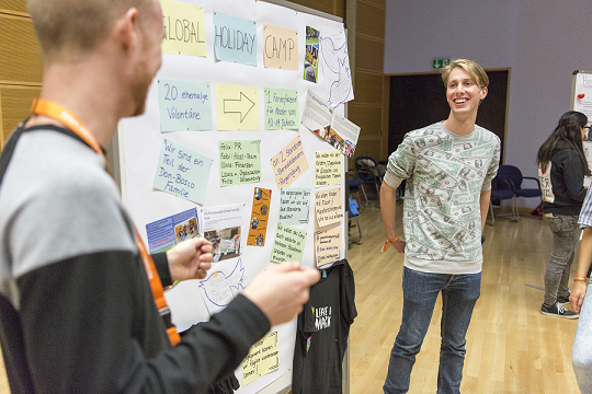 """Beim CHILDREN Jugend hilft! Camp konnten die Jugendlichen von """"Global Holiday Camp"""" ihr Projekt vorstellen."""