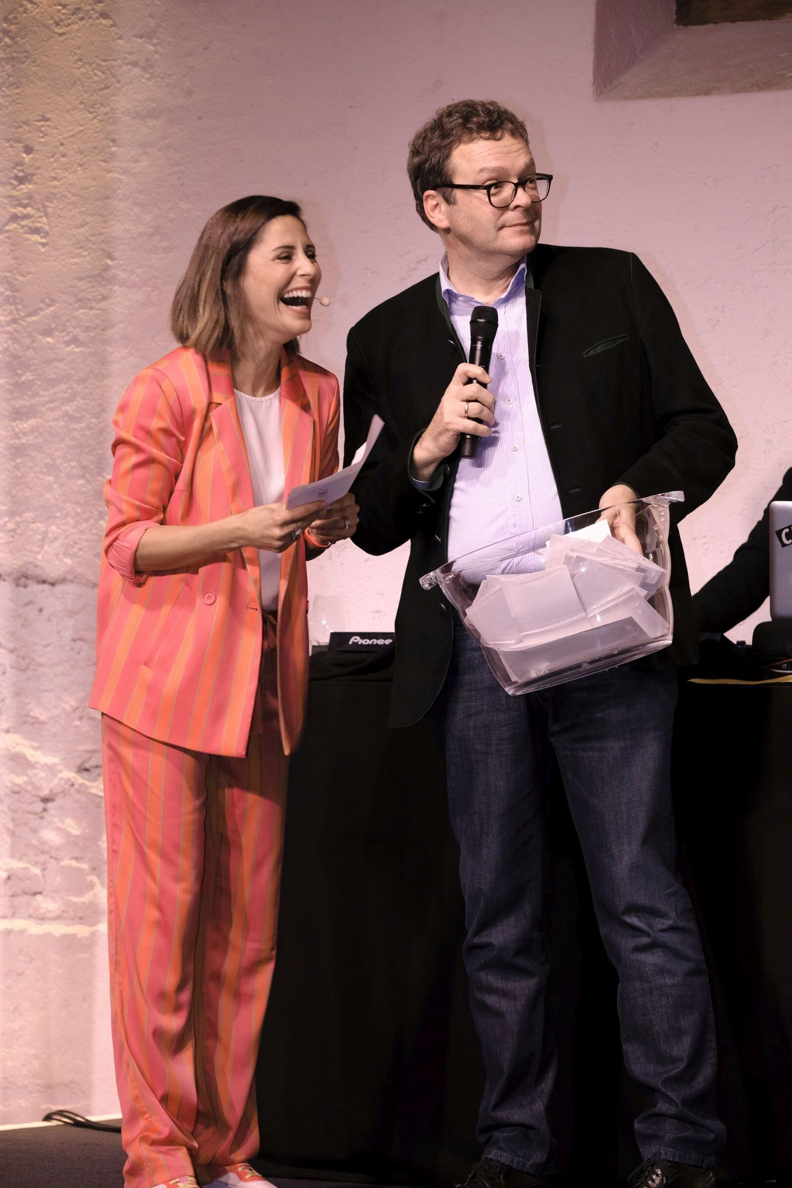 Funda Vanroy (Moderatorin und Schauspielerin), Marcus Vitt (Sprecher des Vorstands DONNER & REUSCHEL)