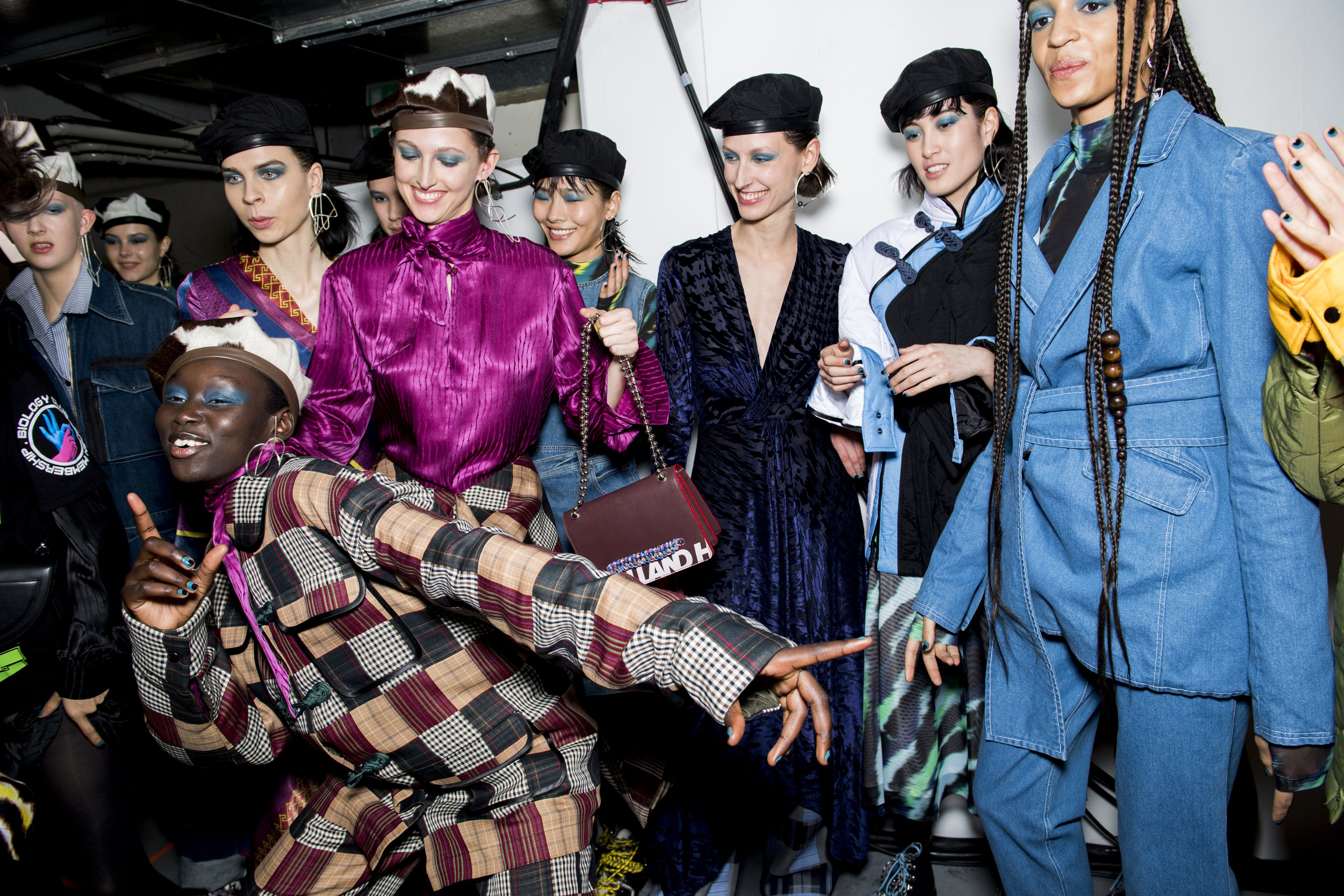 Backstage at House of Holland's AW19 runway show