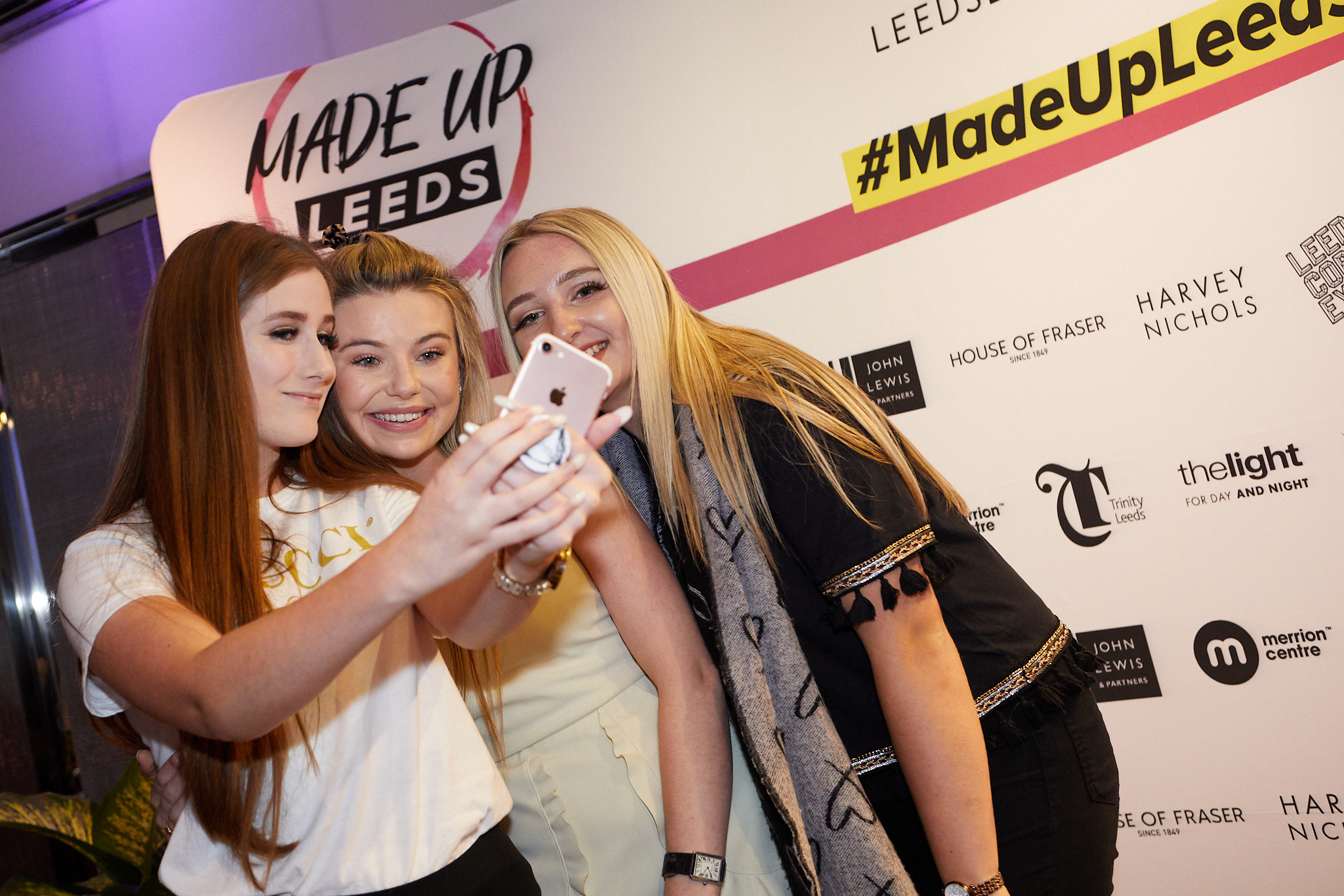 Georgia 'Toff' Toffolo takes a selfie with Made Up Leeds attendees.