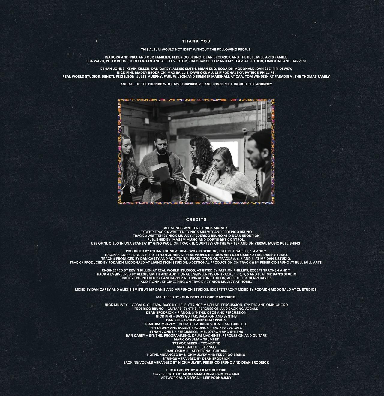 "Album Sleeve of Nick Mulvey's ""Wake Up Now"""