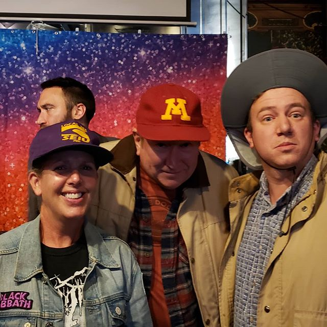 TC Democratic Socialists held their Halloween Party and Ian and his parents dressed as one another to win the costume party