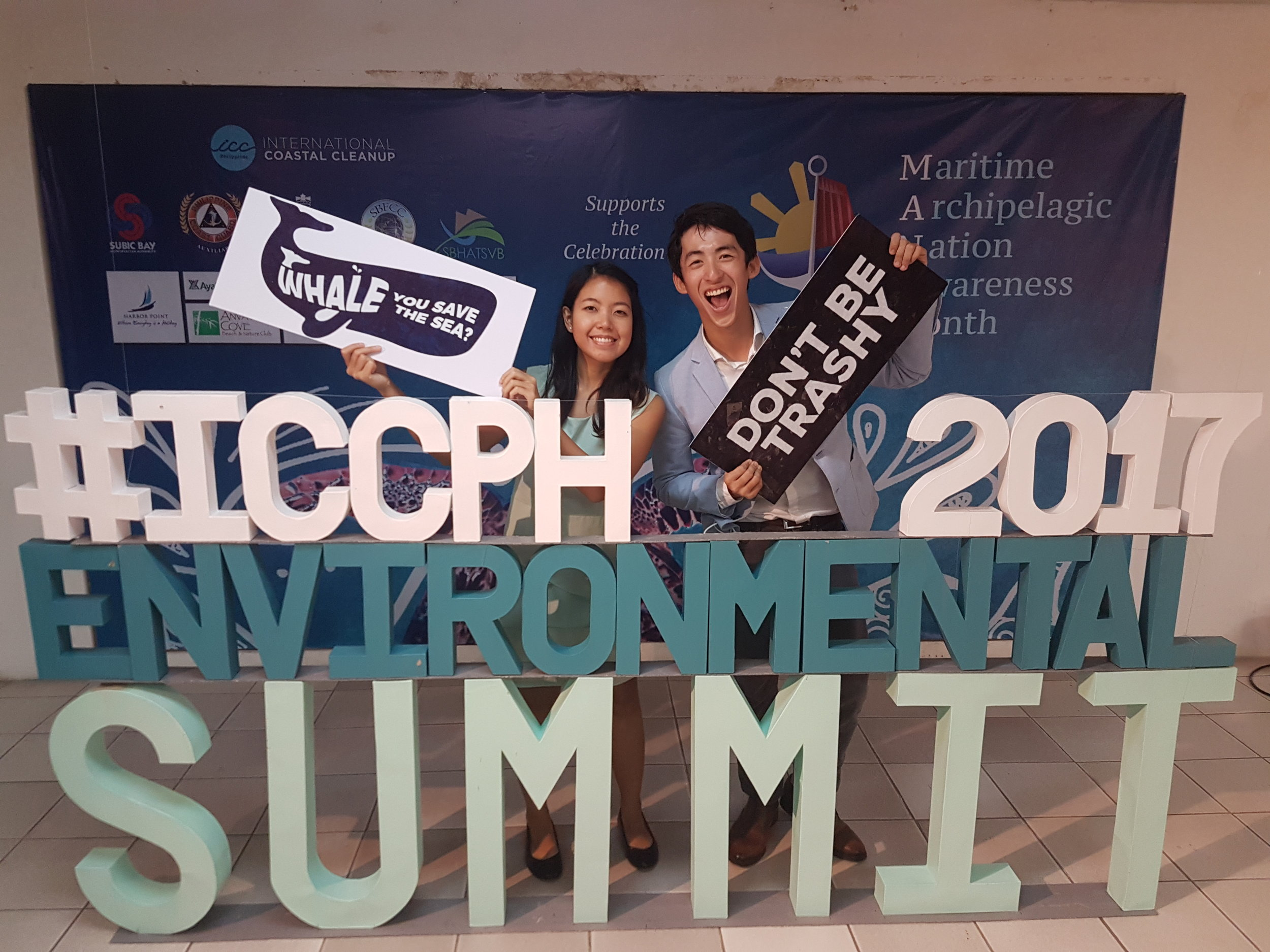 (Left) Gela Petines of Reef Nomads and Batang VIP with (Right) Pocholo Espina of Sip PH