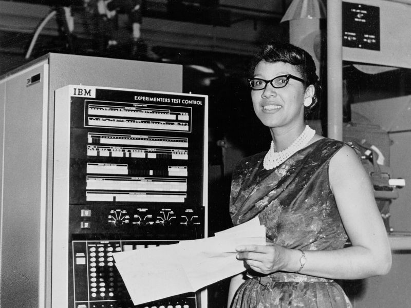 "Melba Roy Mouton, Assistant Chief of Research Programs at NASA's Trajectory and Geodynamics Division in the 1960s. Also known as a ""human computer""."