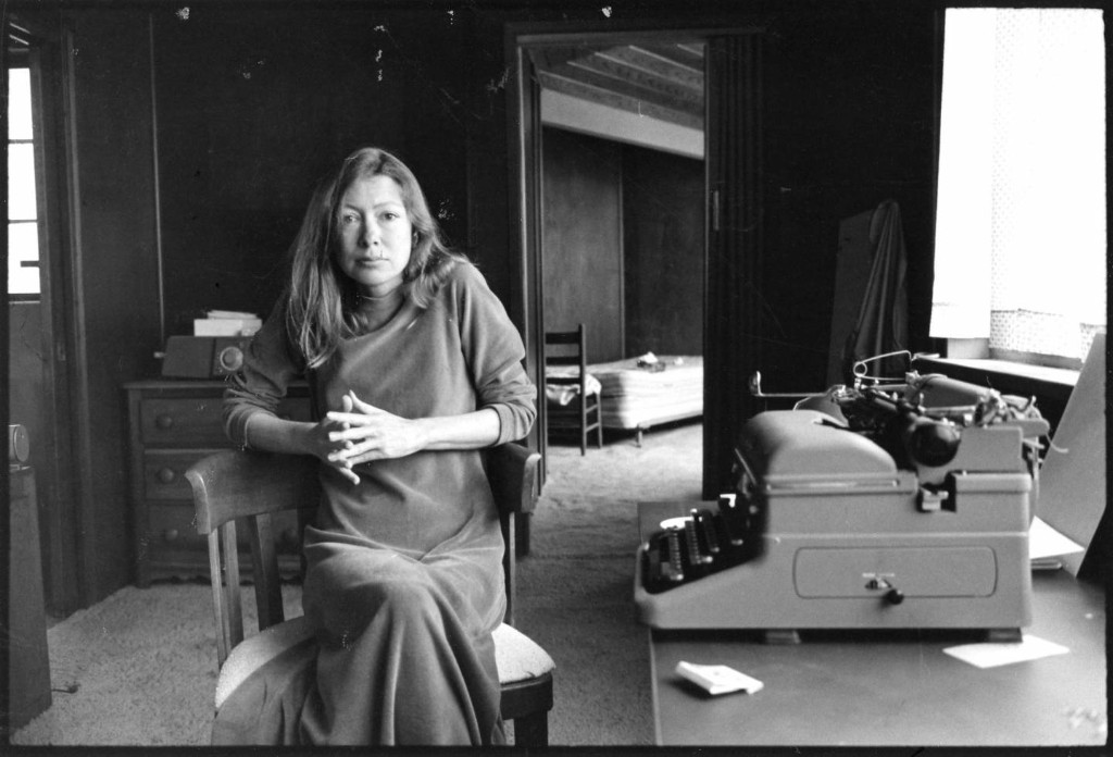Joan Didion and her typewriter. Also, you after you take this Master Class.