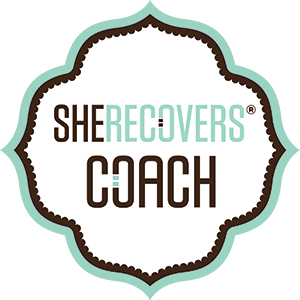 I am aSHE RECOVERS® Coach... - ...which means that I am trained in and my work aligns with the SHE RECOVERS® Intentions & Guiding Principles.SHE RECOVERS ® is an international movement of women in or seeking recovery from a wide variety of issues, including substance use issues, codependency, loss and other life challenges.SHE RECOVERS ® creates welcoming spaces and transformative opportunities – online and in real life – to connect, support and empower recovering women.Visit She Recovers