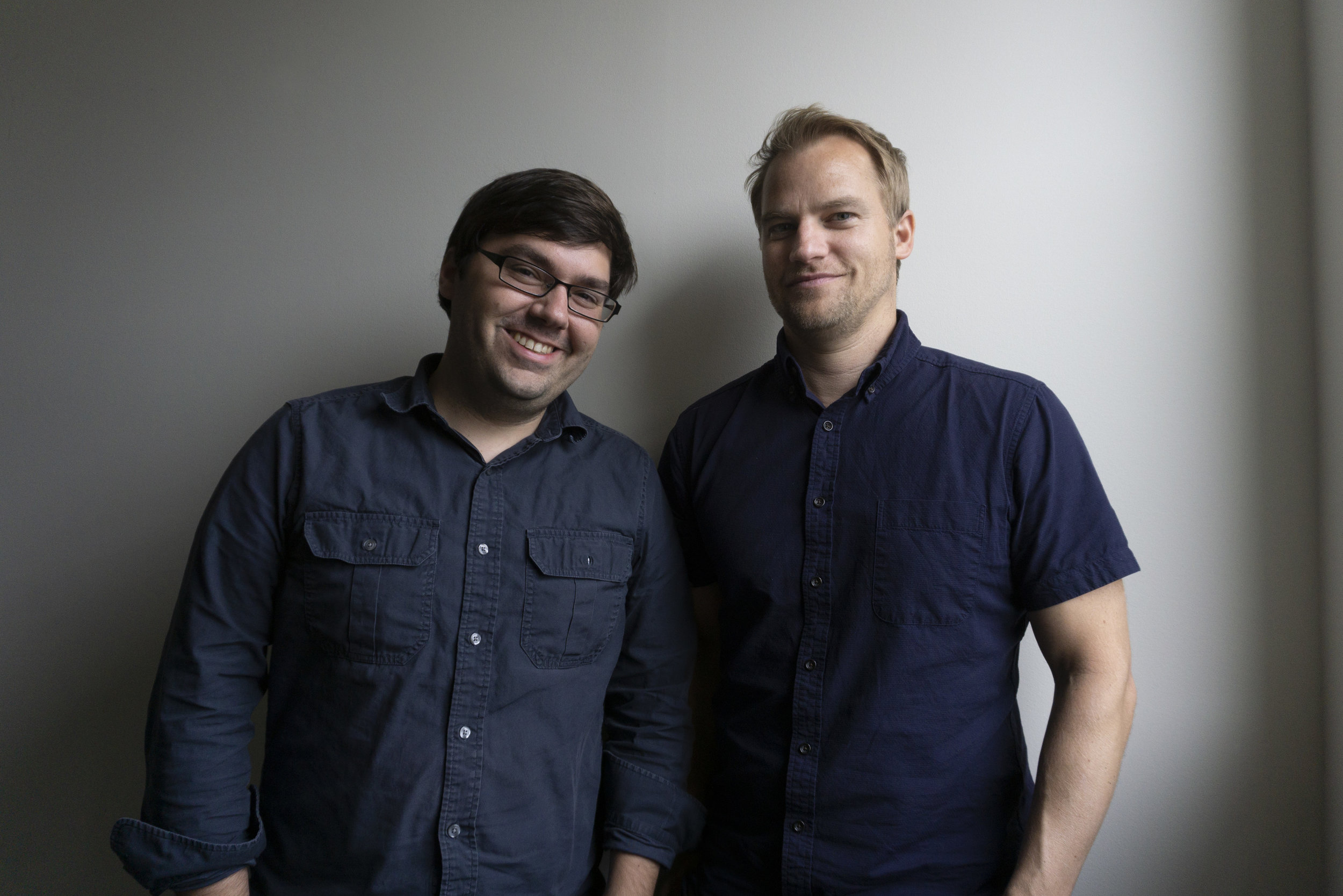 Justin Bajan (left) and Dustin Artz recently launched Familiar Creatures creative agency.