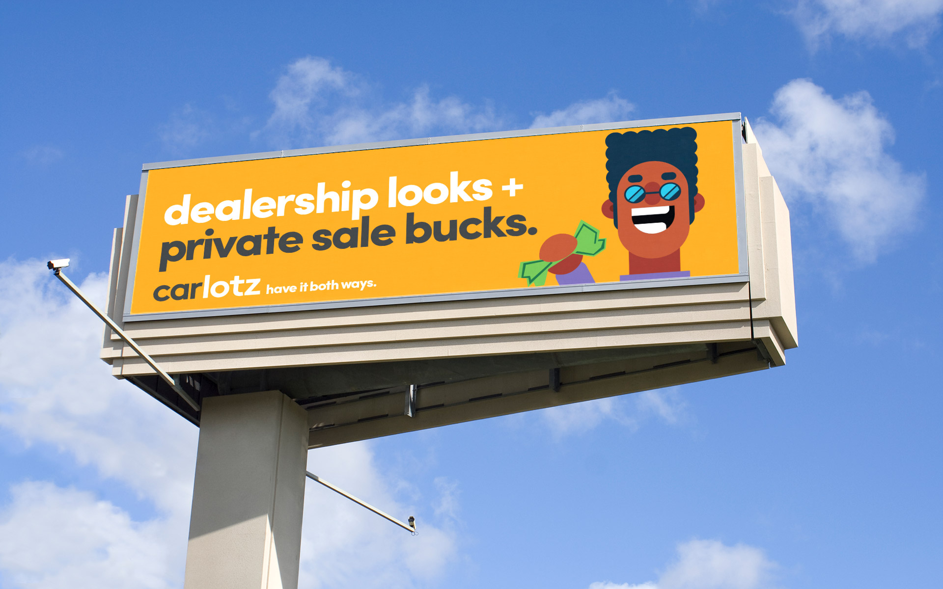 One of the billboard ads for CarLotz.