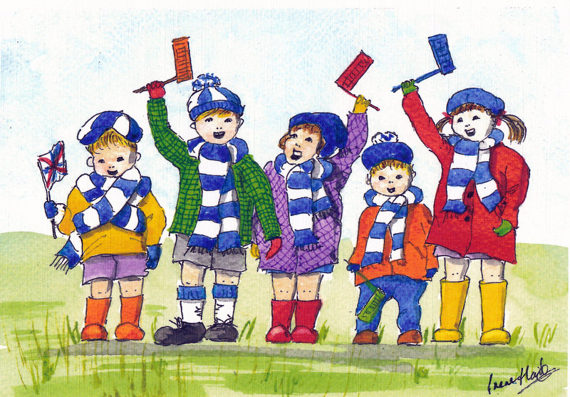 Come on you Blooo-ooos! (Watercolour)