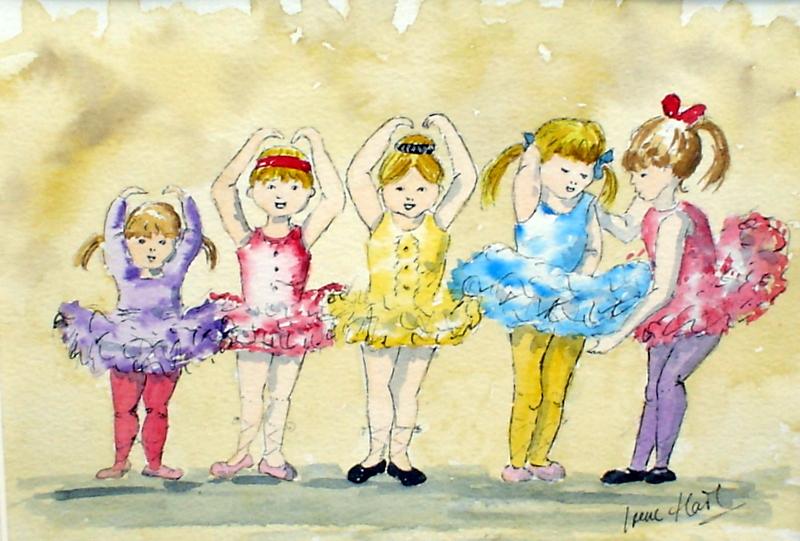 The Ballet Class (Watercolour)