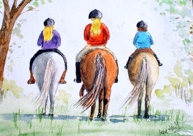 The Pony Club (Watercolour)