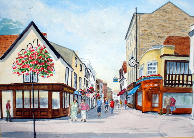 Abbeygate Street,Bury St. Edmunds (Watercolour)