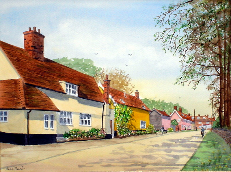 Mendlesham, Suffolk (Watercolour)