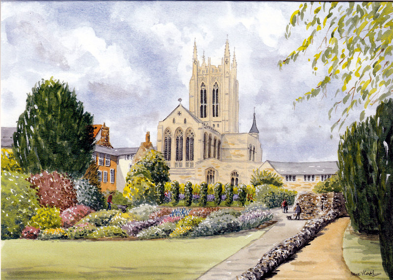 The Cathedral, Bury St. Edmunds (Watercolour)