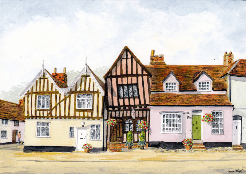 The Crooked House, Lavenham (Watercolour)