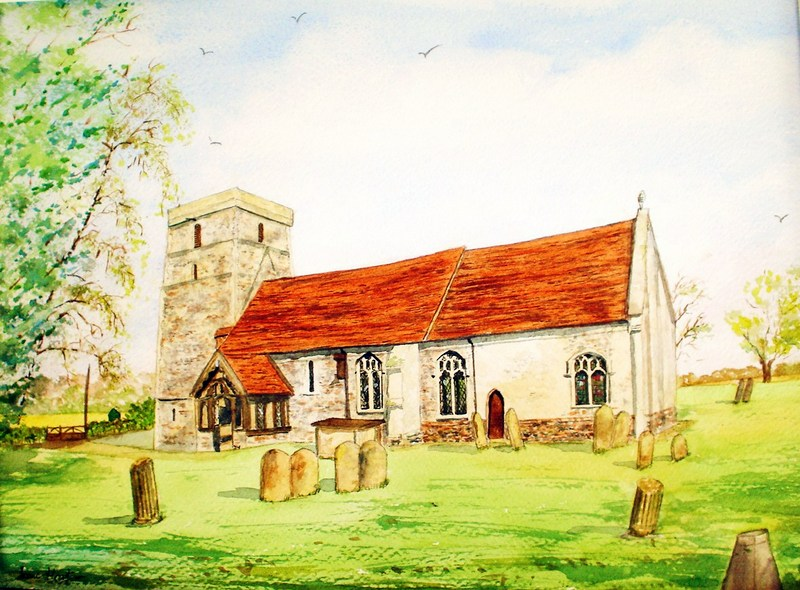 St. Catherine's Church (Watercolour)