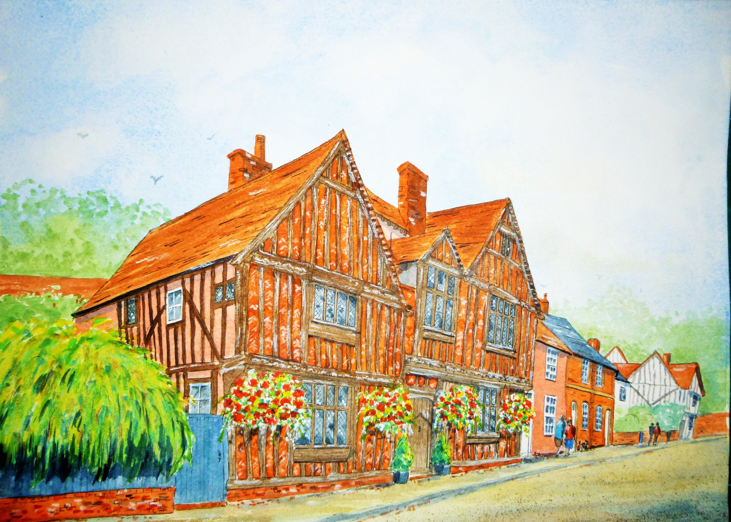 De Vere House, Lavenham (Watercolour)