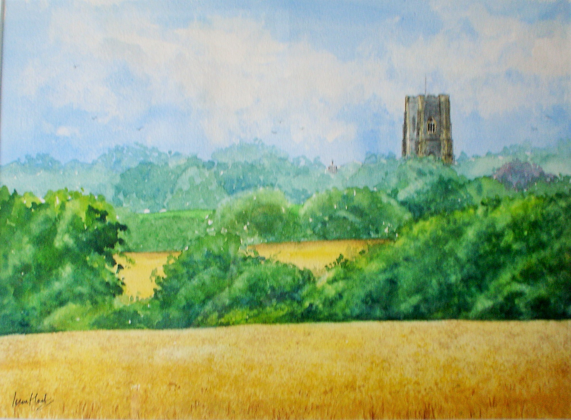 Landscape View, Lavenham (Watercolour)