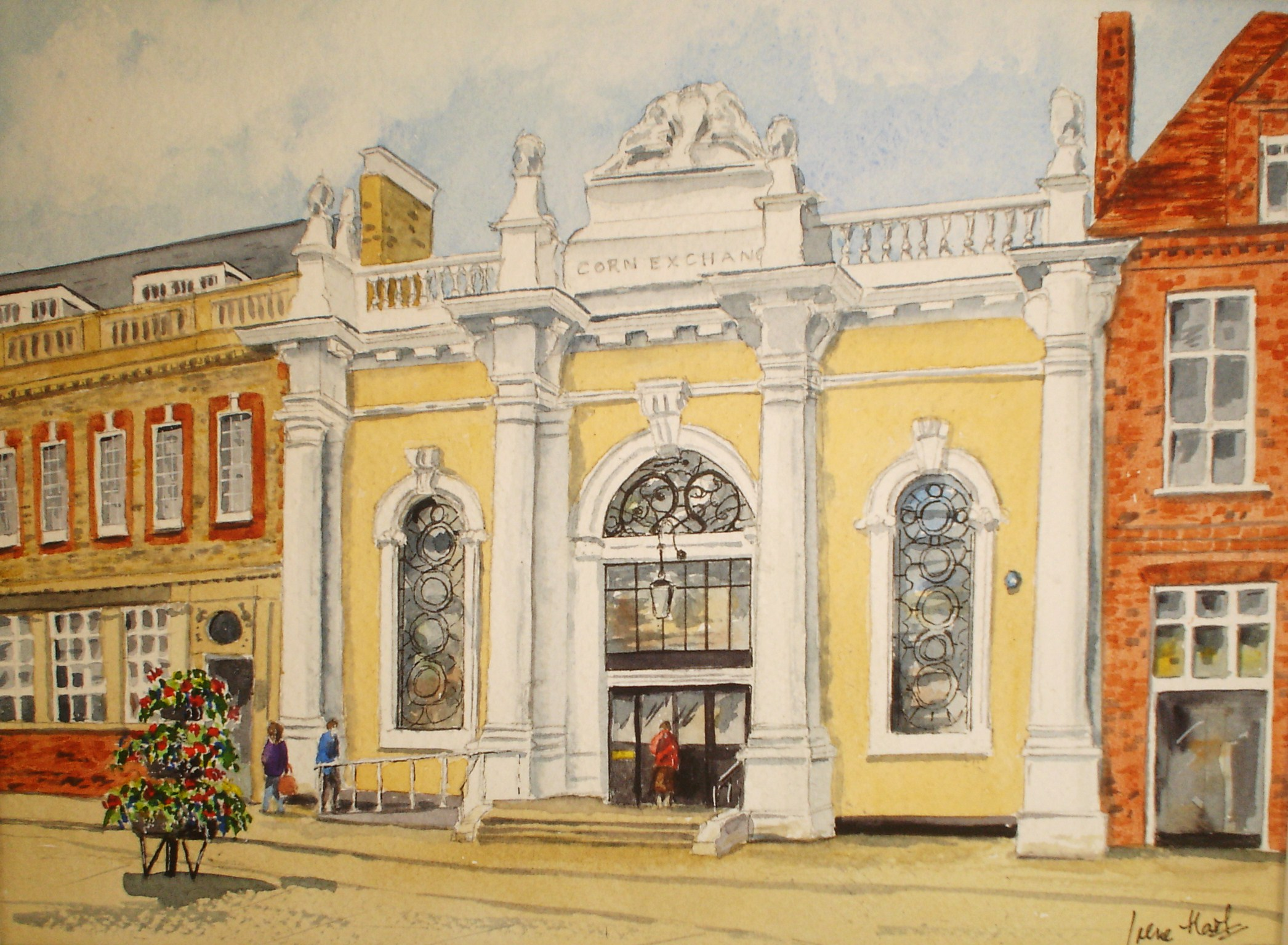 The Library, Sudbury (Watercolour)