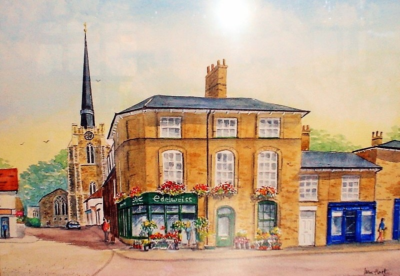 Stowmarket Town Centre (Watercolour)